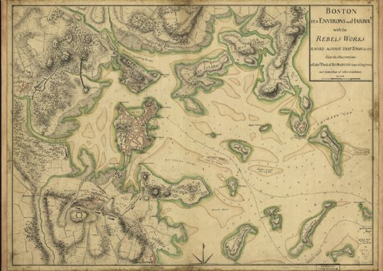 Map of Boston 1775. Print/Poster (4873)